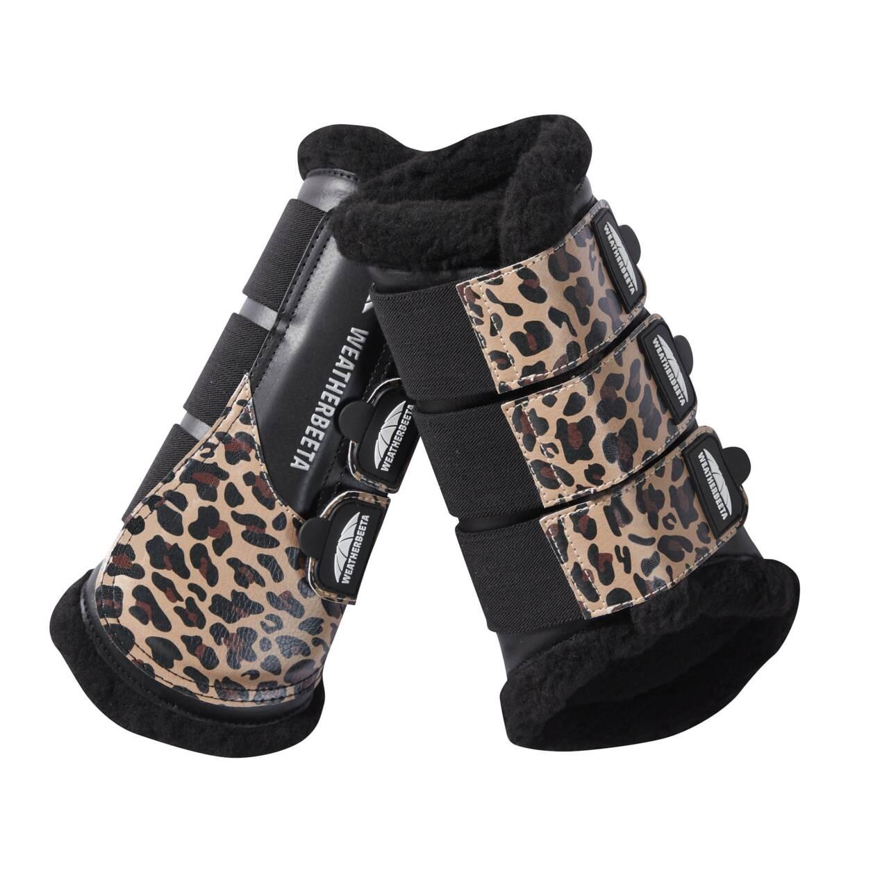Weatherbeeta Leopard gamacher brown