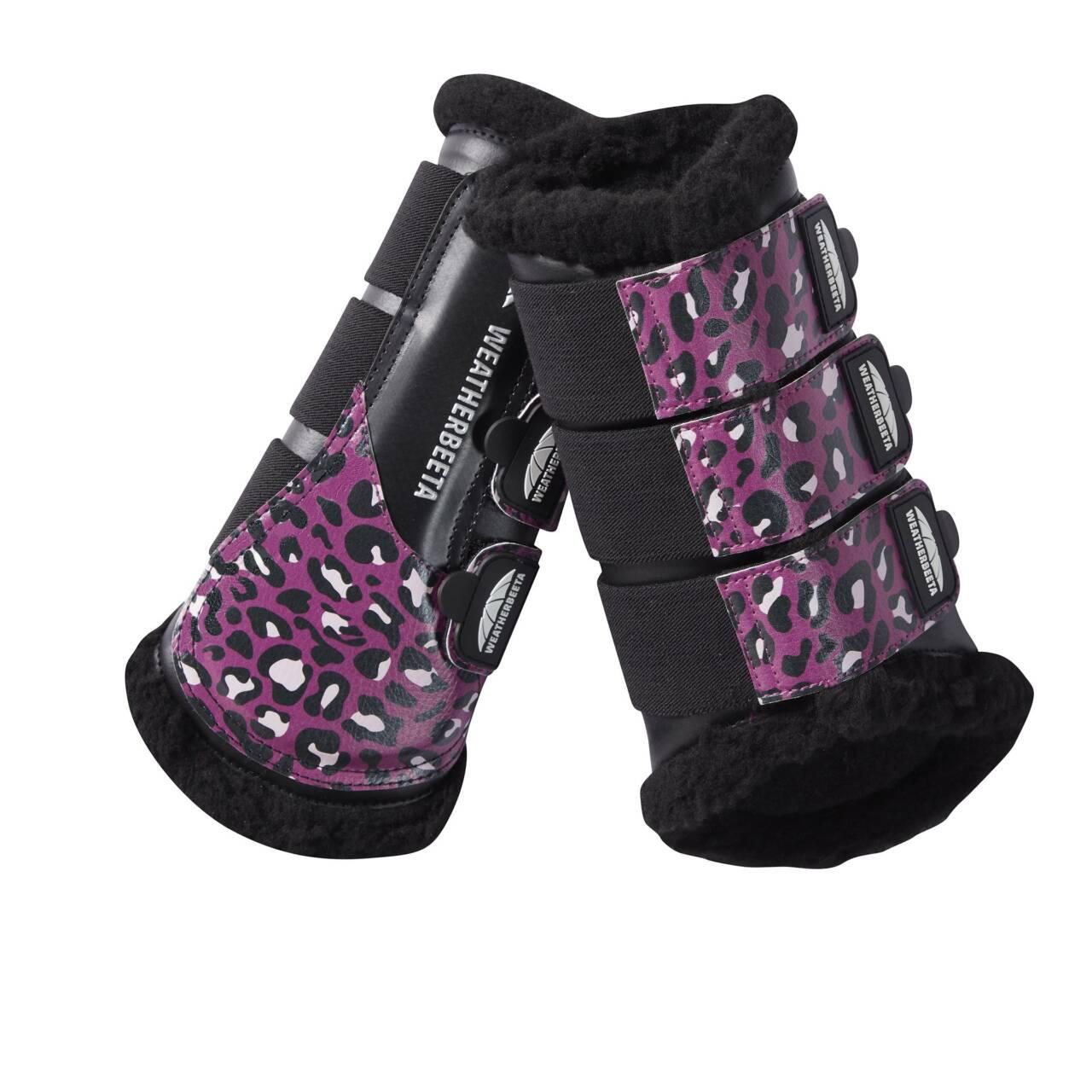 Weatherbeeta Leopard gamacher Pink